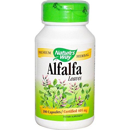 Natures Way Organic Alfalfa Leaf Capsule - 100 per pack -- 6 packs per case.