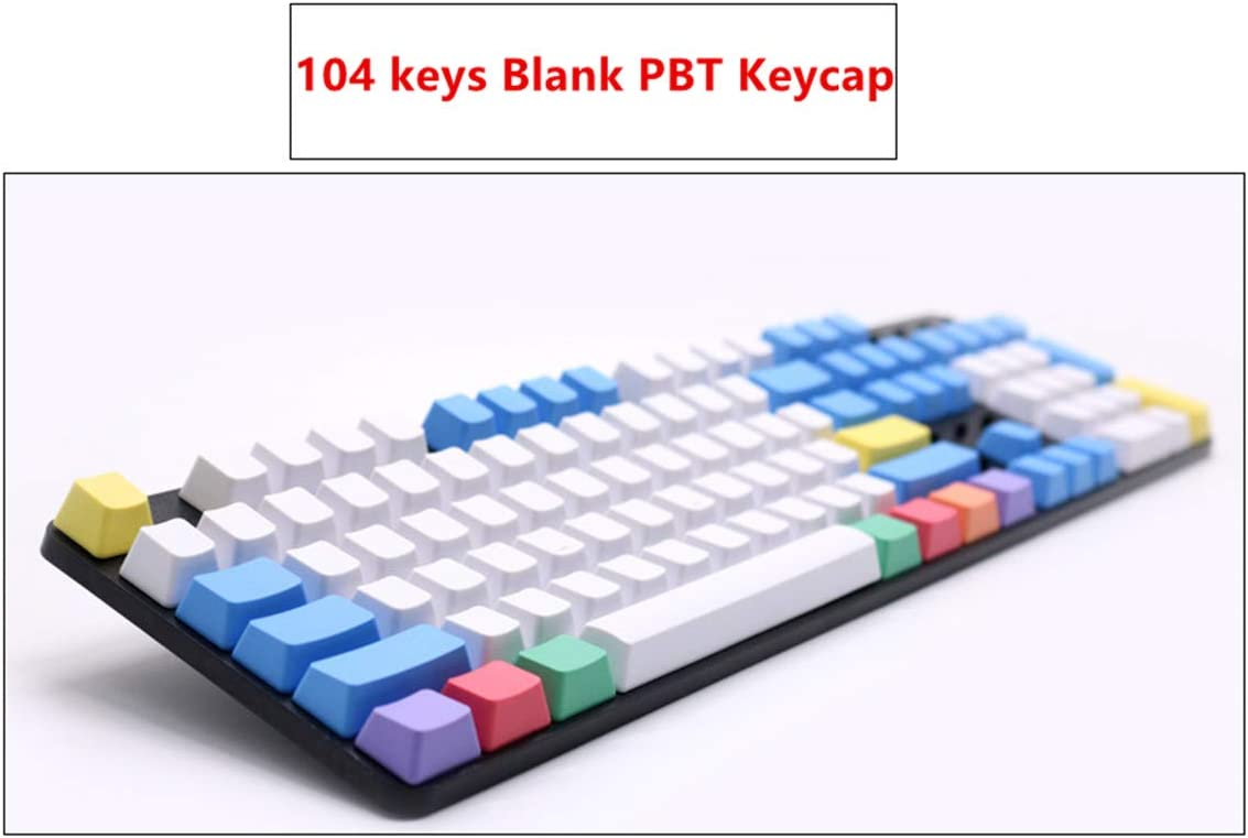 87 Keys,Side Printed 87//104//108 Keys Chalk PBT Keycap Laser Translucent Backlit Keycap ANSI OEM for Cherry MX Gaming Mechanical Keyboard Top//Side//Non Printed