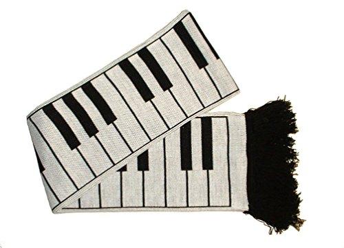 Mrs Barrett Piano Keys Scarf 5ft (Made in the U.K 100% Acrylic