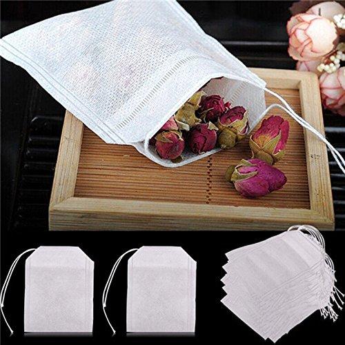 QOJA 50 pcs/lot teabags 5.5 x 6.5cm empty scented tea bags with