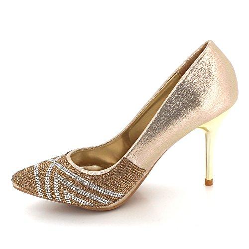 Dames F Cristal Diamante Femmes Mariage Soir zBq4Sg