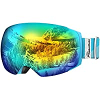 OutdoorMaster PRO Frameless Interchangeable Lens 100% UV400 Protection Snow Ski Goggles