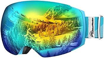 OutdoorMaster Frameless 100% UV400 Protection Snow Ski Goggles