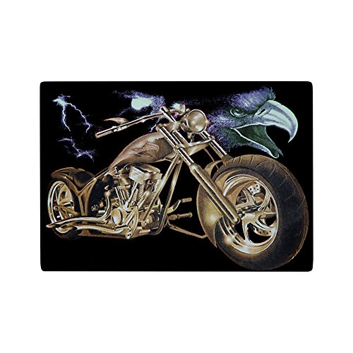 Glass Cutting Board Eagle Lightning and Motorcycle