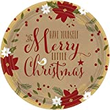 Amscan Merry Little Round Dinner Paper Plates