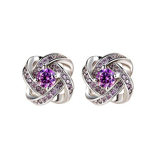 Cuicanstar Zirconia Rhinestone Earrings Wedding product image