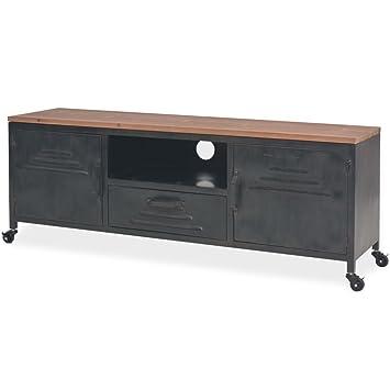 Tidyard Tv Möbel Mit 4 Rädern Tv Möbel Wohnzimmer Tisch Kommode