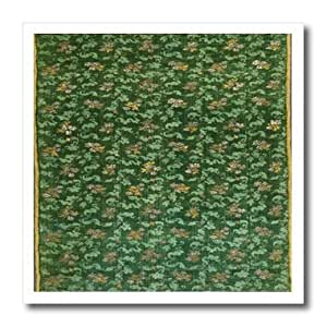 ht_174659_3 Florene - French Vintage - image of 1670 green french textile pattern - Iron on Heat Transfers - 10x10 Iron on Heat Transfer for White Material