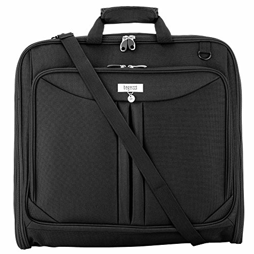 3 Suit Carry On Garment Bag for Travel & Business Trips With Shoulder Strap 40'' Bagazzi Brand by Bagazzi