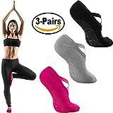Yoga Socks for Women, Anti-Skid Slipper Socks, Non-Slip Socks with Grips For Pilates Ballet Barre Exercises Dance