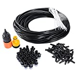 theBlueStone DIY 65FT 30 Nozzles Misting System Kit For Outdoor Swimming Pool Cooling Garden Greenhouse Irrigation Reptile Mosquito Prevent - 65FT with 30PCS Plastic Mist Nozzle Misting System