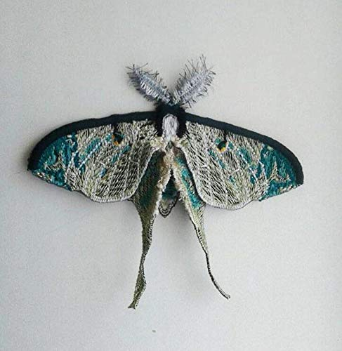 EmbroideryMoks Butterfly Luna Moth Wing Insect Embroidered Patch