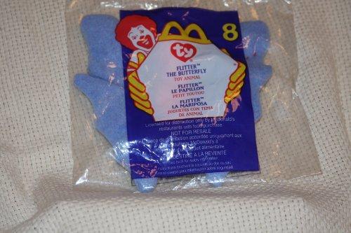 Flitter the Butterfly - McDonald's Ty Teenie Beanie MIP - 2000 #08 by Teenie Beanies - 2000