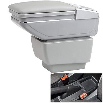 Soporte Giratorio de Cuero para la Caja del reposabrazos del automóvil para Fabia/Fabia 2