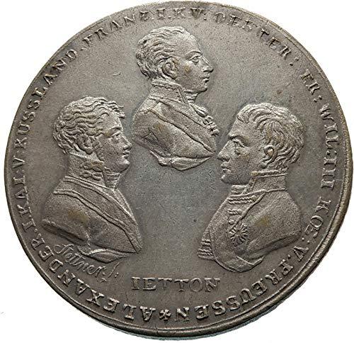- 1814 unknown 1814 FRANCE Allies Against NAPOLEON BONAPARTE Ent coin Good