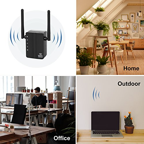 WiFi Range Extender ,300Mbps 2.4G WiFi Repeater Wireless Signal Booster with 360 Degree Full WiFi Covering with High Gain Dual External Antennas High Gain Conventivity  by GuckZahl (Image #6)