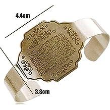 Islamic Ayatul Kursi Stainless Steel Charm Bracelet & Bangles for Women & Men,