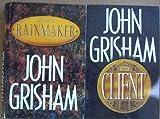 Lot of 2 John Grisham Hardback First Edtion Books (The Client ~ the Rainmaker)