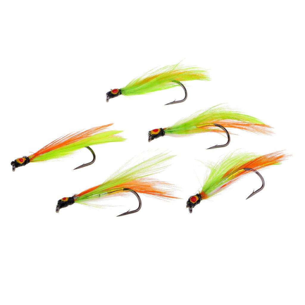 5pcs Dry Flies Bass Salmon Trouts Flies Streamer Fly Fishing Flies