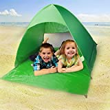 Pop Up Beach Tent, UV Portable 2-3 Person Folding Beach Shade Sun Shelters Automatic Instant Lightweight Hiking Camping Beach Canopy Cabana Backpacking Pop Up Tents