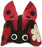 Silk Road Bazaar Zootie Hats Ladybug, Red/Black