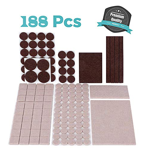Chair Pads For Wood Floors: Felt Pads For Furniture Floor Protectors Table Chair Feet