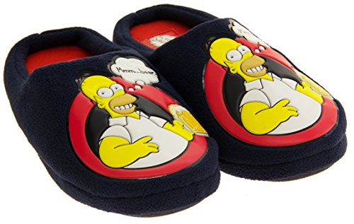 The Simpsons  Mmm Beer Homer, Chaussons pour homme bleu bleu