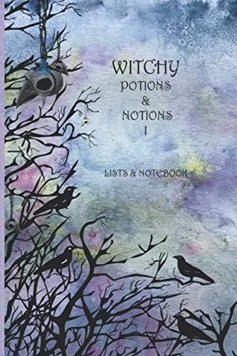 Witchy Potions & Notions I: List bullet page on one side with lined Notebook on the opposite side -