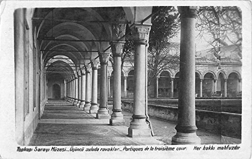 Istanbul Turkey Topkapi Palace Colonnade Real Photo Antique Postcard - Colonnades Stores