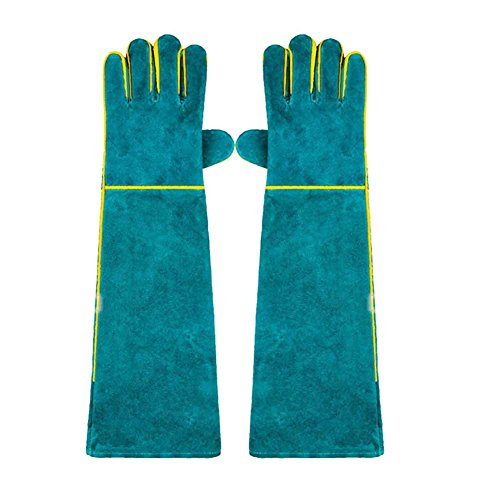 Accreate Practical Super Long Protective Gloves Anti-Scratch Anti-bite Mittens Against Reptile Cat Dog Snake