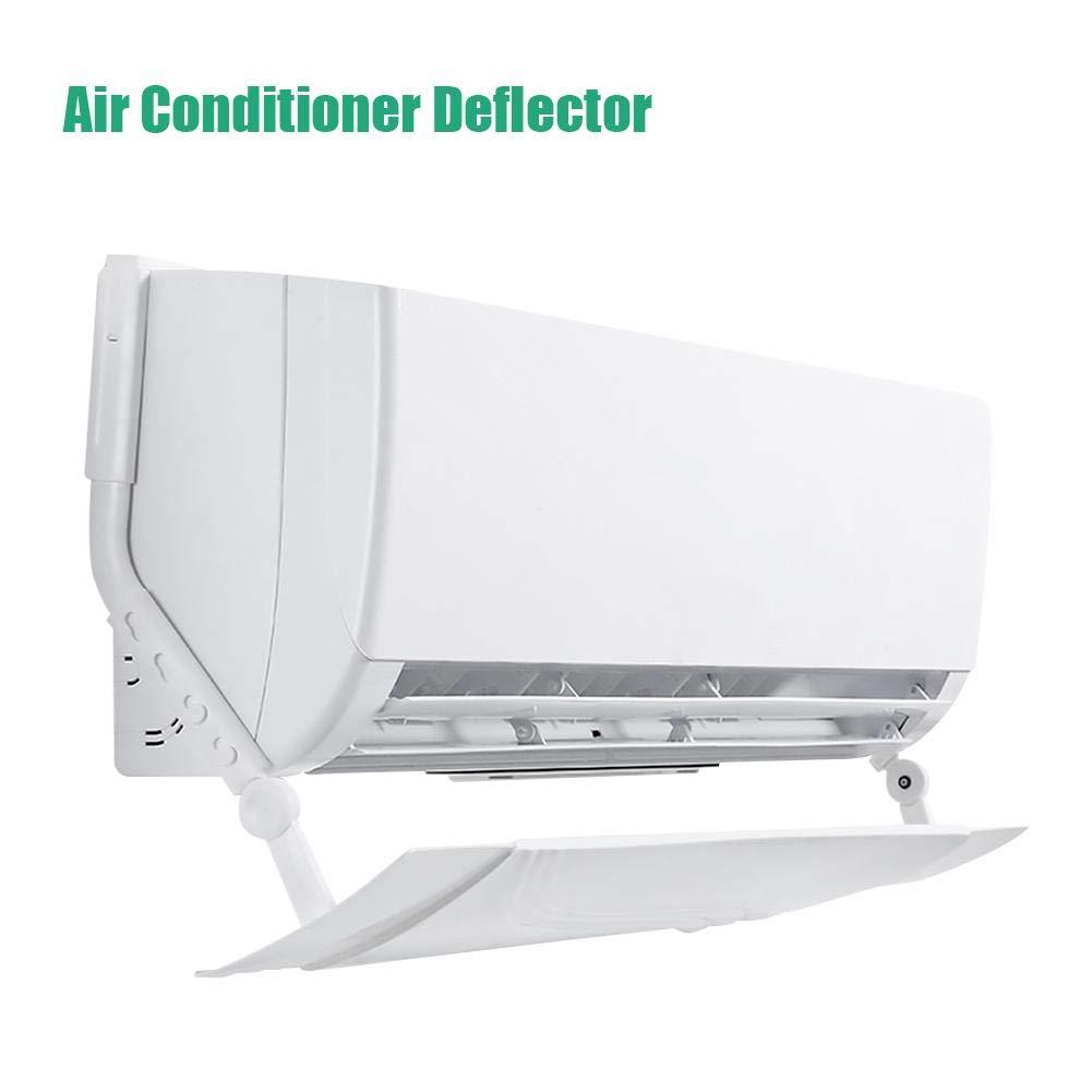 deflectores de Aire Acondicionado de Parabrisas Ajustables Anti direccionables direcci/ón del Viento para el hogar//Oficina Deflector de Aire Acondicionado retr/áctil Blanco