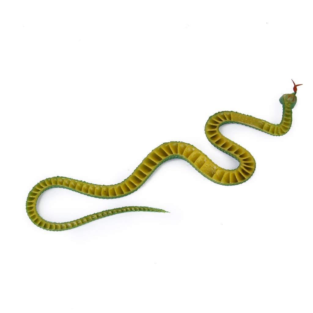 Nicedeal Truco Serpiente Juguete de Plaacute;Stico de Color Verde Juguetes para NI/ÑAS