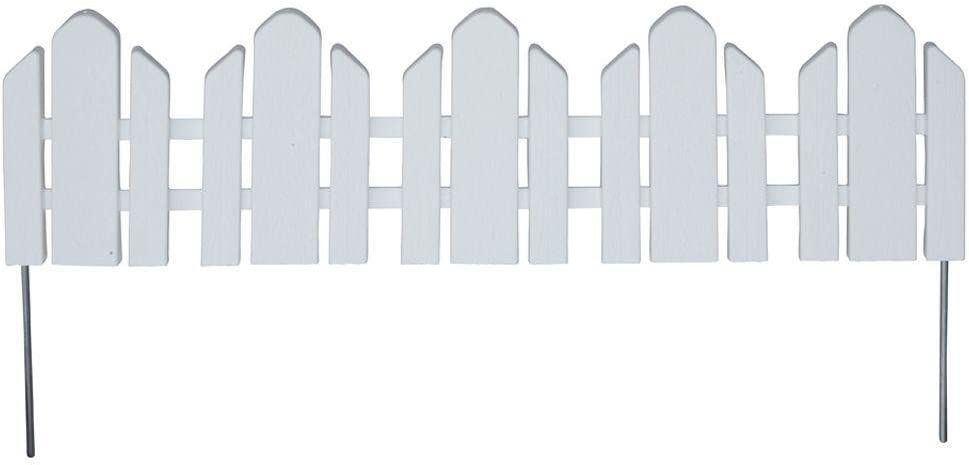 "Emsco Group Dackers Adirondack Style Flexible Border Edging - 22"" L x 5"" H Pieces - 14.5' of Lawn Edging - White"