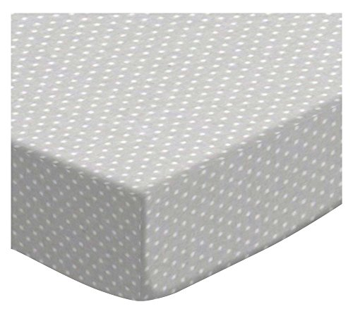 SheetWorld Extra Deep Fitted Portable Mini Crib Sheet - Pindots Grey Woven - Made in USA by SHEETWORLD.COM