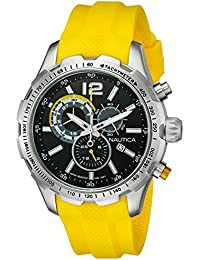 Mens NAD15514G NST 30 Analog Display Quartz Yellow Watch · Nautica