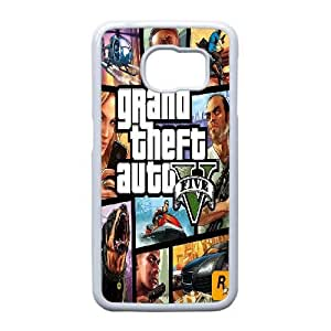 Samsung Galaxy S6 Edge Cell Phone Case White Grand Theft Auto 5 QY9395158