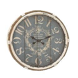 Deco 79 52556 Metal Rope Glass Wall Clock, 25