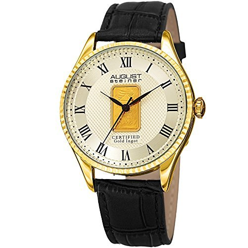 August Steiner Quartz Champagne Dial Men's Watch AS8217YGB