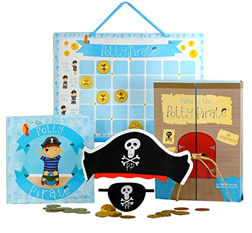 Pirate Potty Training Set with Book, Potty Chart,