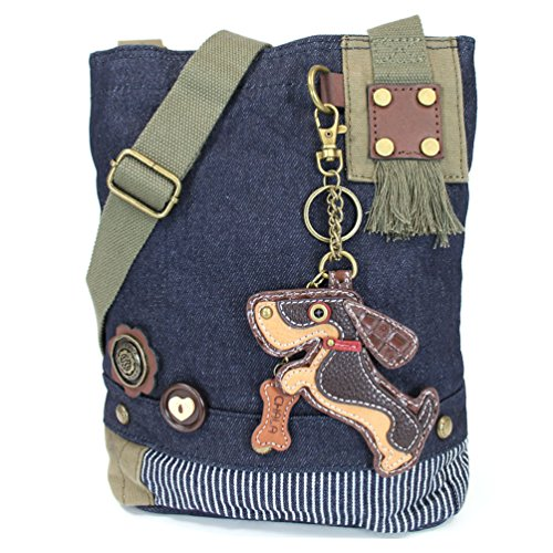 "Used, Chala Patch Crossbody Bag ""Weiner Dog"" Dachshund Multi-color for sale  Delivered anywhere in USA"