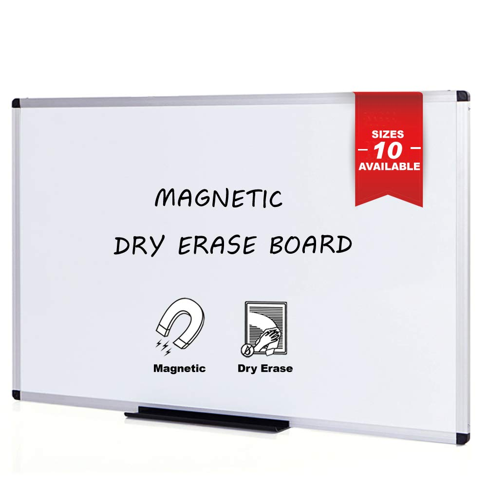 VIZ-PRO Magnetic Whiteboard/Dry Erase Board, 48 X 36 Inches, Silver Aluminium Frame by VIZ-PRO