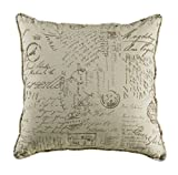 HiEnd Accents Fairfield Printed Linen Sham, Euro