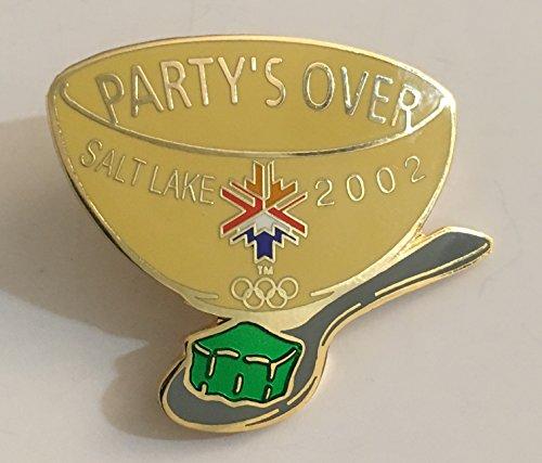 2002 Salt Lake City Winter Olympics Original Green Party's Over Jello Pin