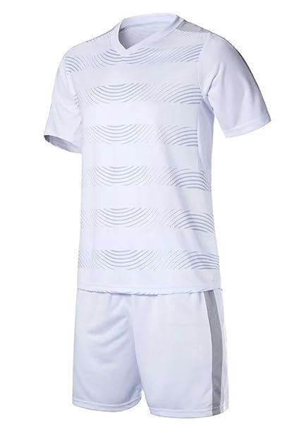 4218a31902a692 KINDOYO Maglia da Calcio Uomo & Bambino, Camicia Manica Corta +  Pantaloncini da Calcio,