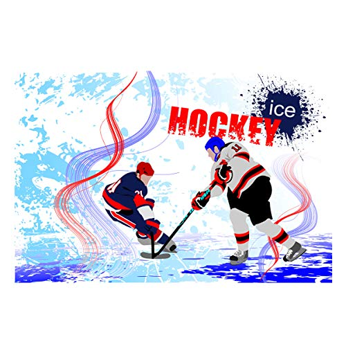 Fantasy Star Aquarium Background Ice Hockey Player Poster Fish Tank Wallpaper Easy to Apply and Remove PVC Sticker Pictures Poster Background Decoration 20.4