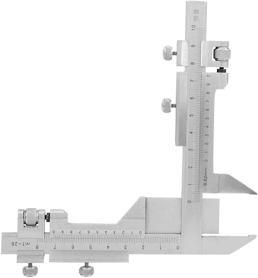 HYY-YY Vernier Caliper Stainless Steel Gear Tooth Vernier Caliper Thickness Gauge Measuring Tools Has Two Movable Vernier Scales That Are Perpendicular To Each Other