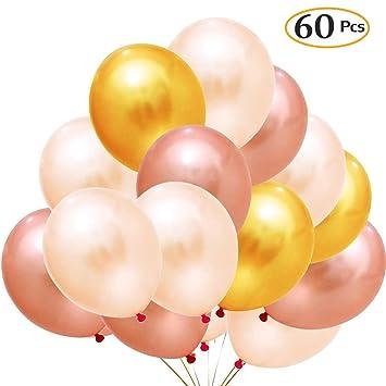 Amazon.com: Oro & oro rosa & champaña dorado color de látex ...