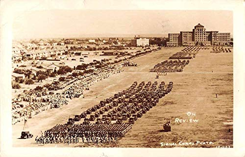 Monroe Louisiana Military Parade Real Photo Vintage Postcard AA670