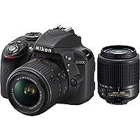 Nikon D3300 24.2 MP CMOS Digital SLR with AF-S DX NIKKOR 18-55mm f/3.5-5.6G VR II Zoom Lens and AF-S DX 55-200mm f/4-5.6G ED VR II Lens, Certified Refurbished from Nikon