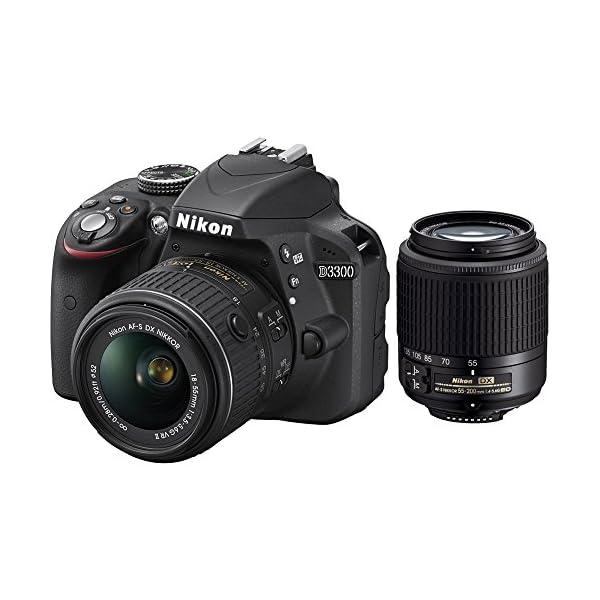 51EpExQRWoL. SS600  - Nikon D3300 24.2 MP CMOS Digital SLR with AF-S DX NIKKOR 18-55mm f/3.5-5.6G VR II Zoom Lens and AF-S DX 55-200mm f/4-5…